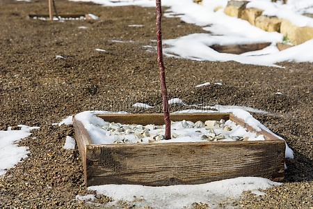 spring melting of snow in the