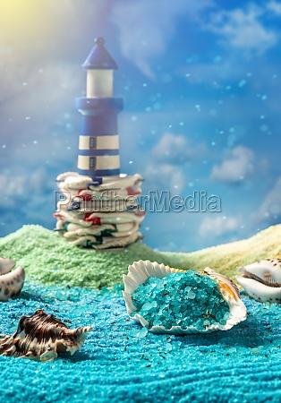 aromatic bath salt spa composition