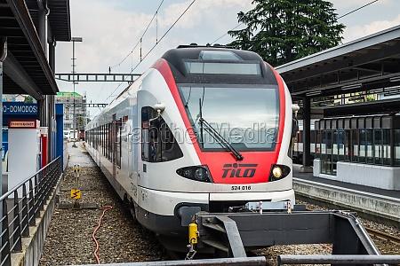 passenger train in switzerland