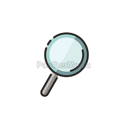 magnifying glass search and analytics filled