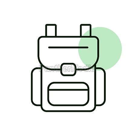 camping backpack vector icon camping sign