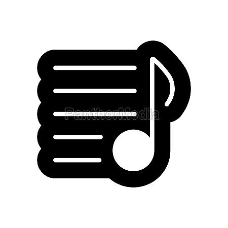 music playlist vector glyph icon musical
