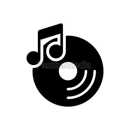 disc and music note vector glyph
