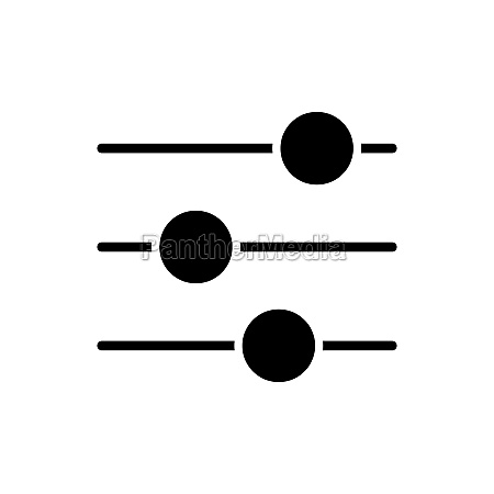 equalizer vector glyph icon music sound