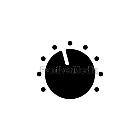 volume knob vector flat glyph icon