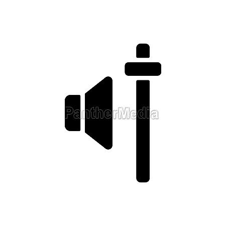 audio volume slider control vector glyph