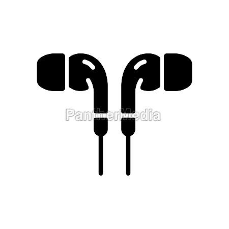earbuds headphone vector flat glyph icon