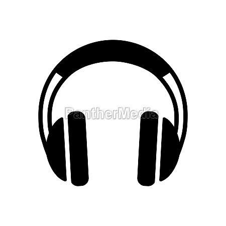 headphones vector glyph icon music sign