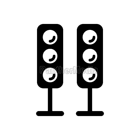 sound system speakers vector glyph icon