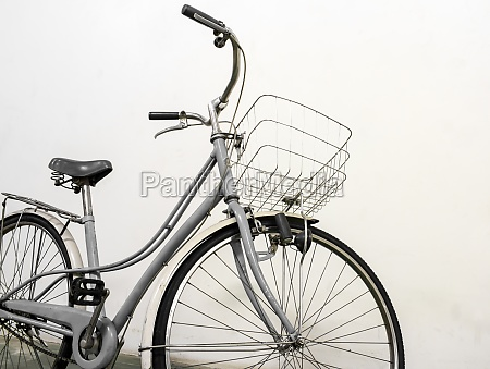 vintage bicycle white background