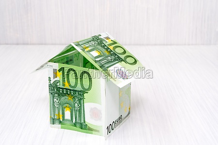 house made from euro bills