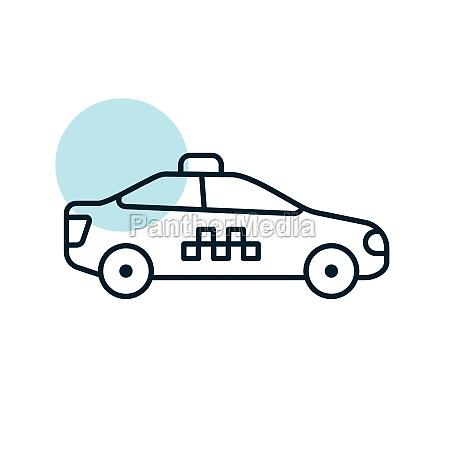 taxi car flat vector icon