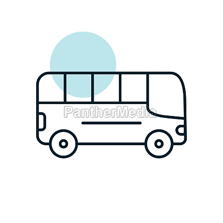 city bus flat vector icon