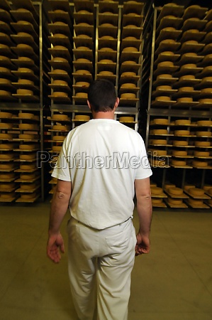 cheese maker in industrial food production
