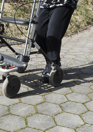 rollator as a walking aid