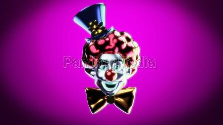 clown 3d illustration