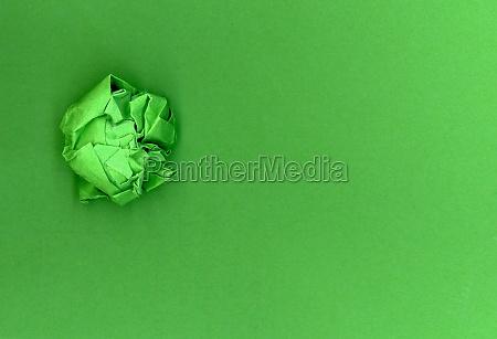 green paper ball