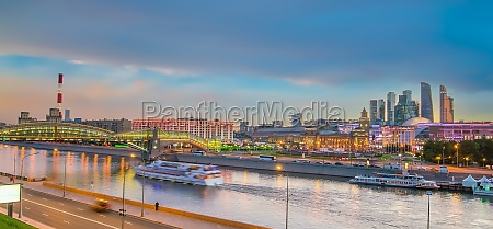 moscow city skyline business district and