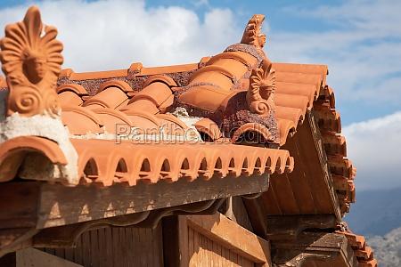 beautiful roof decoration in malia crete