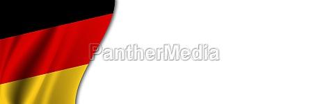 germany flag on white background white