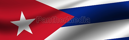 banner with the flag of cuba
