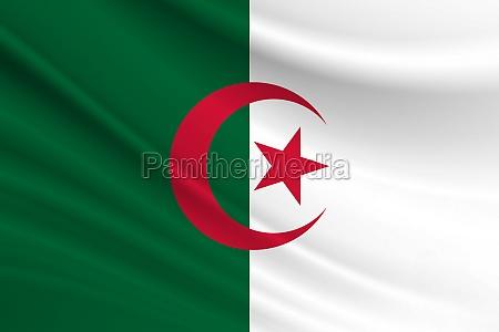 flag of algeria fabric texture of