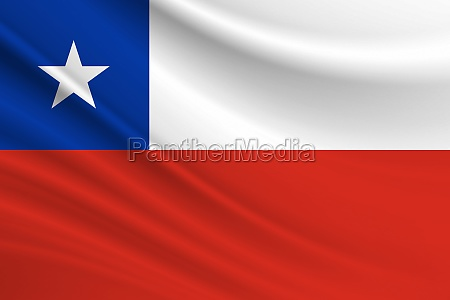 flag of chile fabric texture of