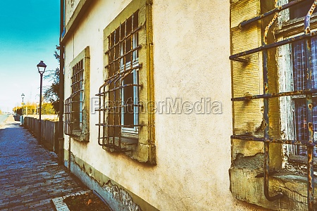 old house with sandstone facade and