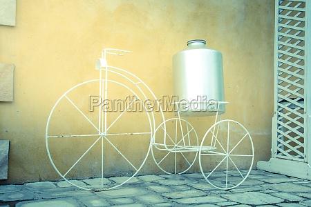 white decor bicycle