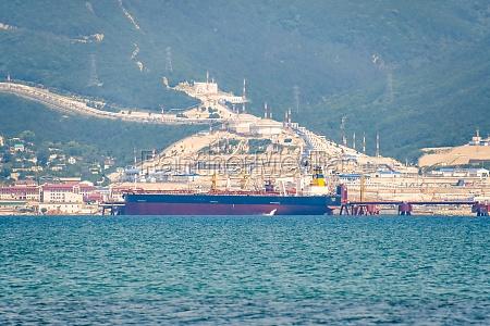 novorossiysk seaport ship in the cemess