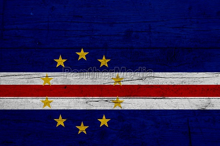 flag of cape verde wooden texture