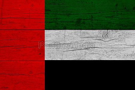 flag of united arab emirates wooden