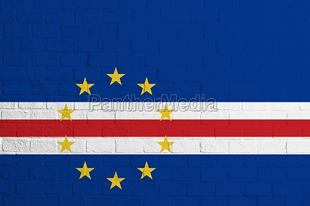 flag of cape verde brick wall