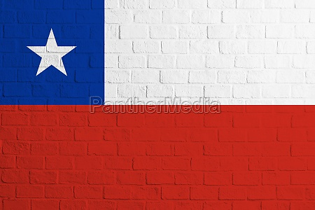 flag of chile brick wall texture