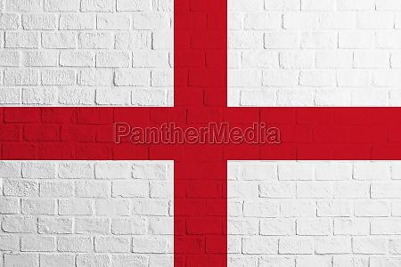 flag of england brick wall texture
