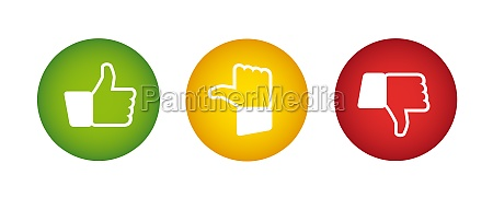 feedback buttons traffic light colors