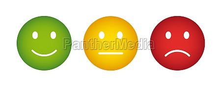feedback smiley buttons poor average good