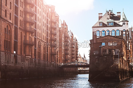 historic old town hafencity in germany