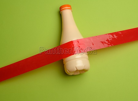 plastic beige bottle for dairy products