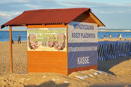 hut on the beach of swinoujscie