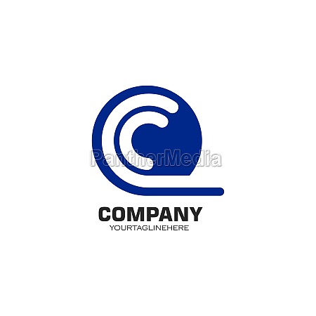 c letter logo template vector icon