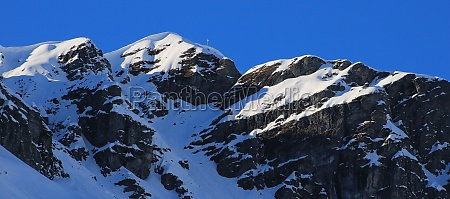 snow covered mountain vorab seen from