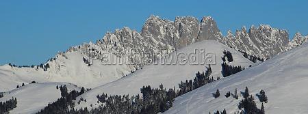 gastlosen in winter rugged mountains in