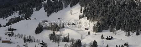 rural landscape in gsteig bei gstaad