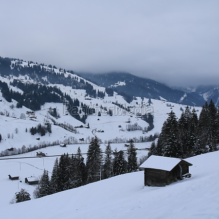 rural winter landscape in feutersoey