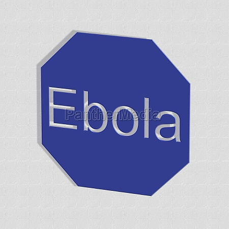 ebola word or text as