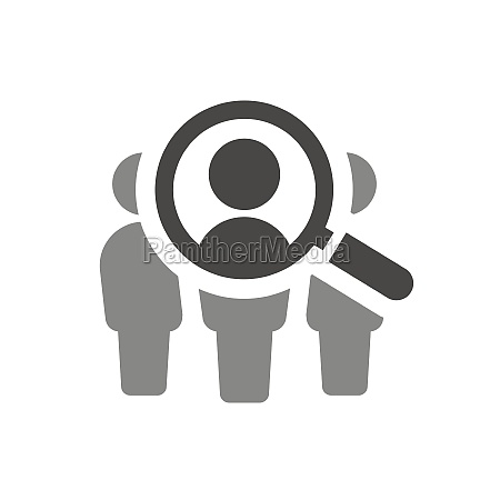 magnifying glass with people search vector
