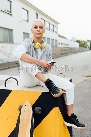 young woman sitting in front of