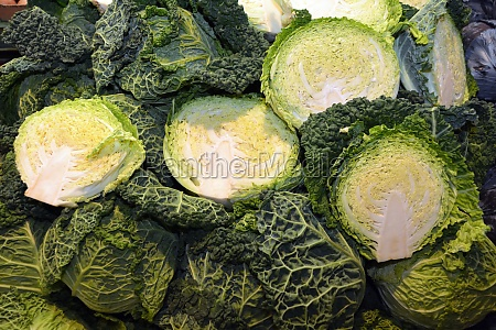 cabbage in the market hall