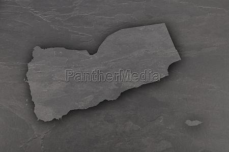 map of yemen on dark slate